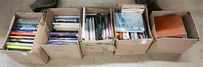 Library of Mostly Art Books (Five Boxes)
