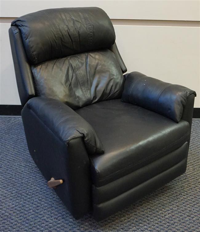Black Leather Upholstered Recliner