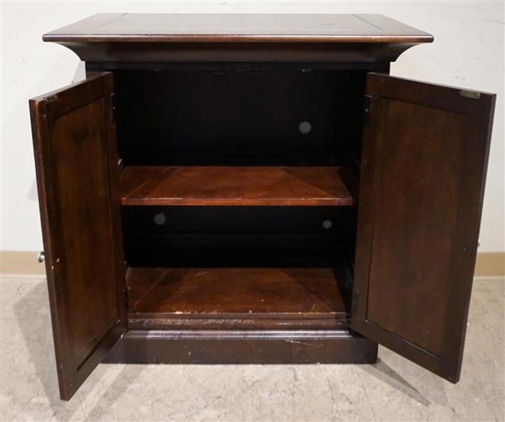 Cherry Finish Side Cabinet, Height: 34-1/2 in; Width: 33-1/2 in; Depth: 20-3/8 in