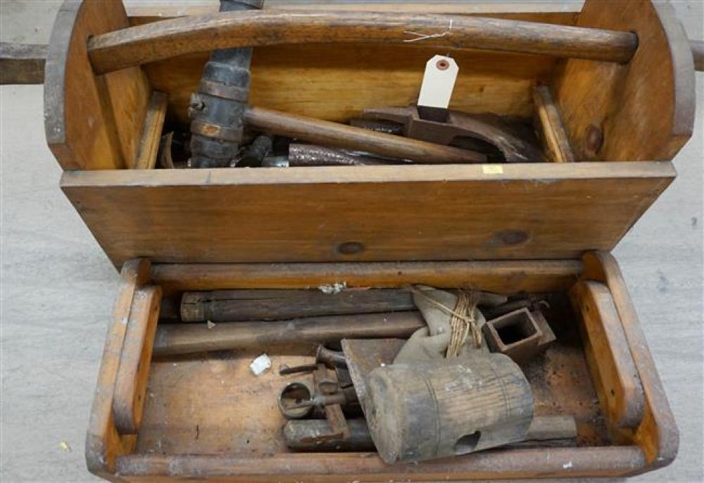 Hand-Made Carpenter's Tool Box with Tools