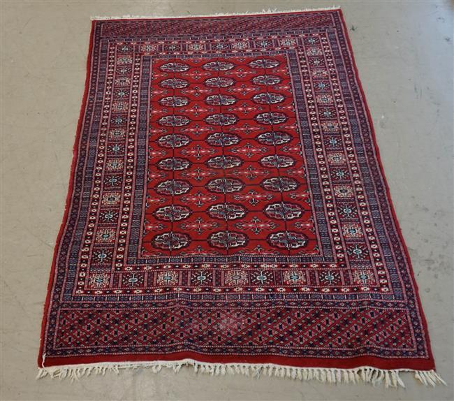 Bokhara Area Rug; 6 FT 4IN x 4 FT