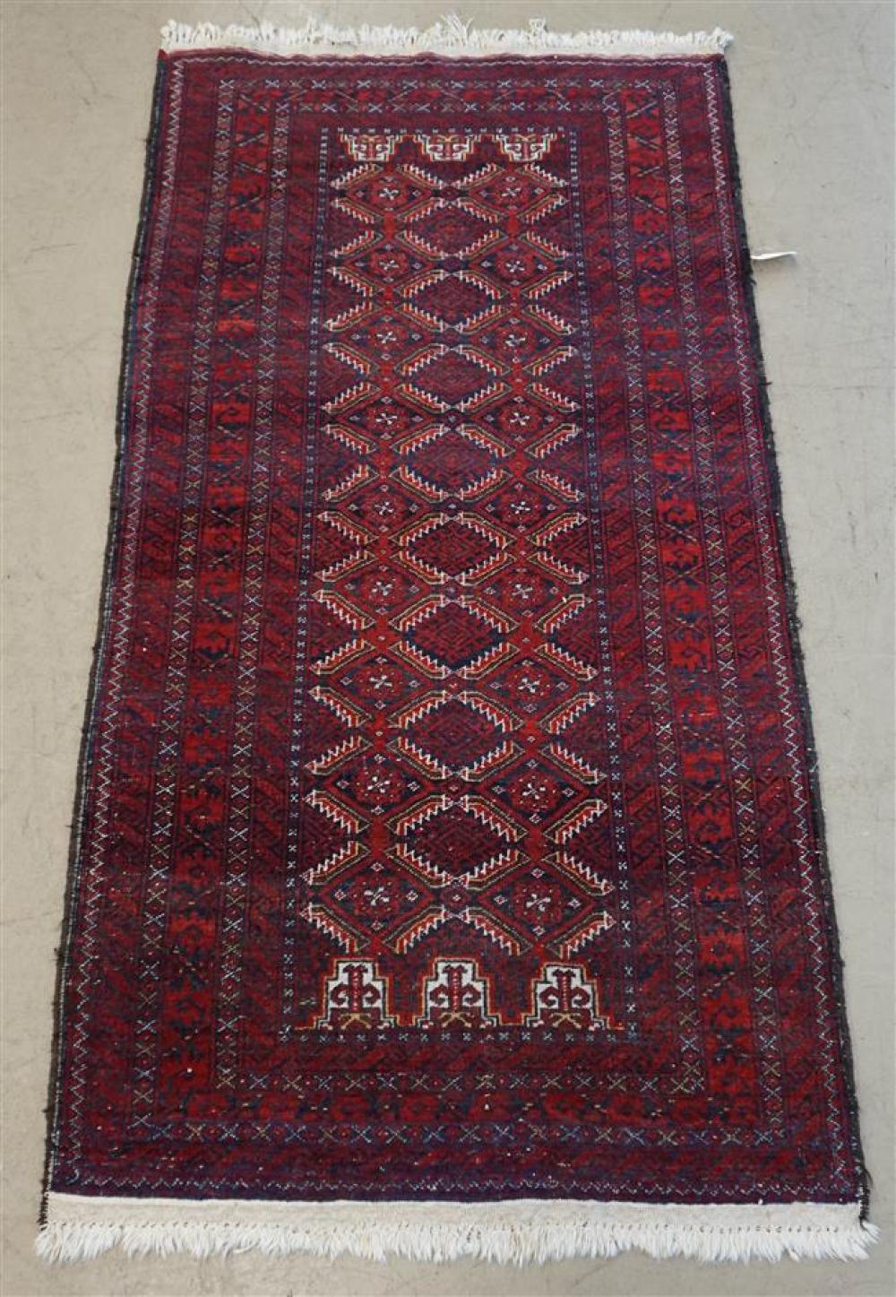 Hamidan Area Rug; 5 ft 10 in x 3 ft