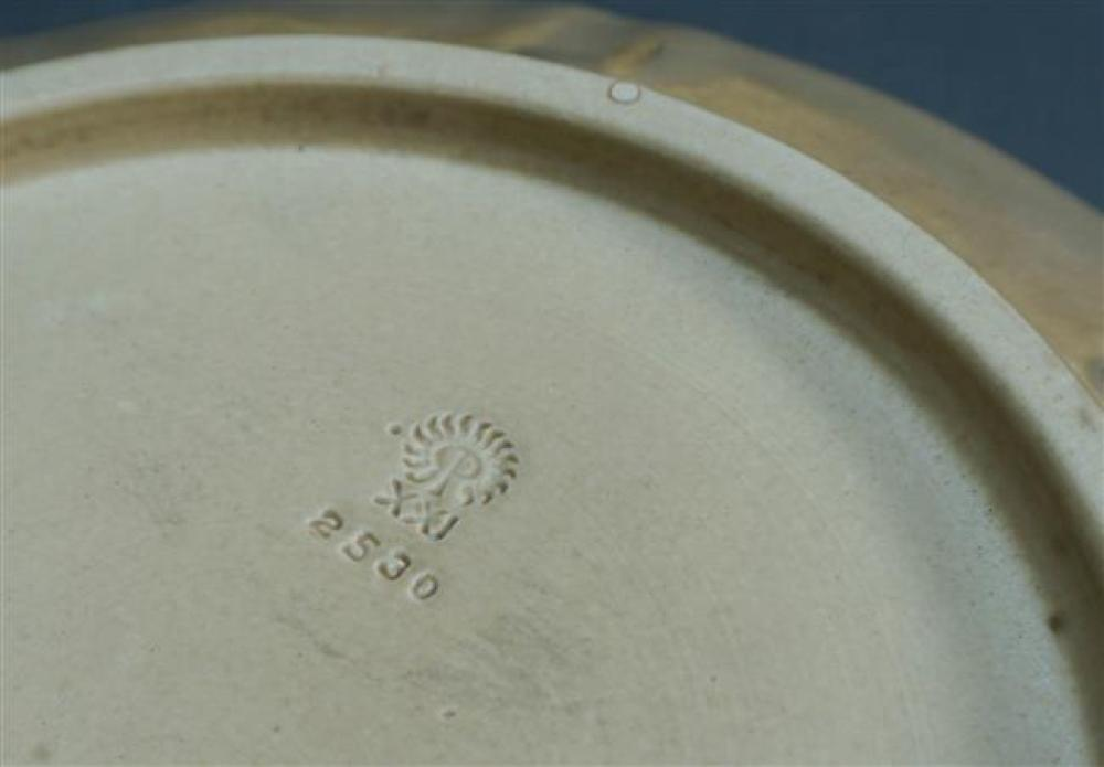 Rookwood Pottery Center Bowl, Stamped 1921, model # 2530, Diameter: 12 in, Height: 3 in