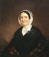Otis A. Bullard (American 1816-1853) Portrait of a Woman in a White Bonnet, oil on canvas, 30 x 25 in
