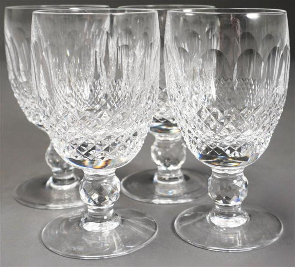 Four Waterford Cut Crystal Colleen Pattern Brandy Snifters and Four White Wines