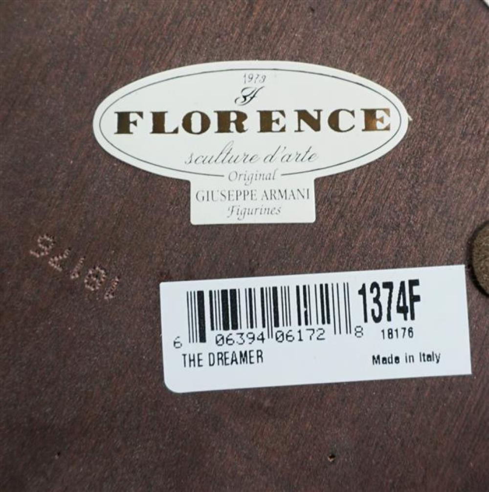 Six Giuseppe Armani for Florence Porcelain Figurines, H of Tallest: 13 in