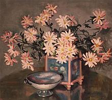 Eunice Clay Pritchett (American 20th Century), Still Life with Flowers