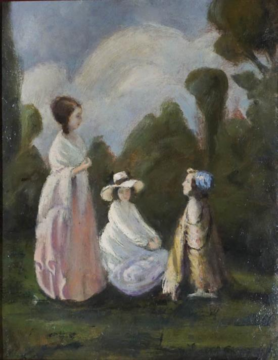 Béla Iványi Grünwald (Hungarian 1867-1940), Outdoor Activities, Oil on Panel, 19-3/4 x 14-1/2 in