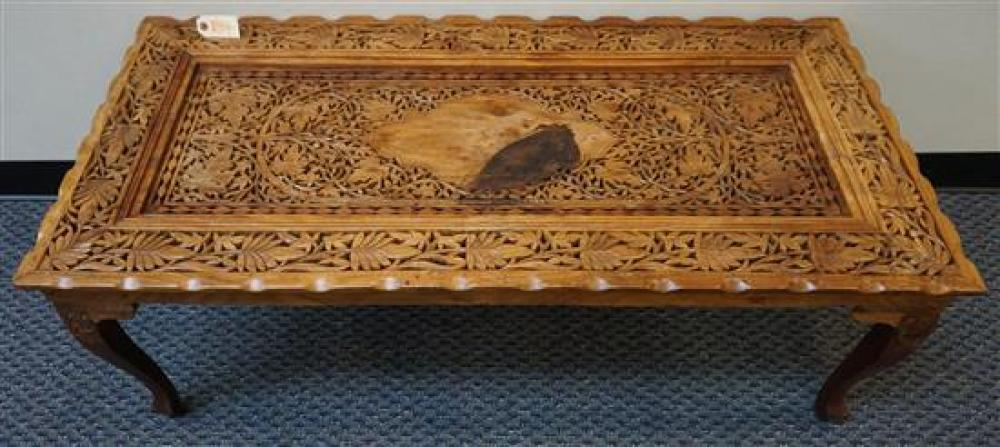 Indian Pierced Fruitwood Coffee Table