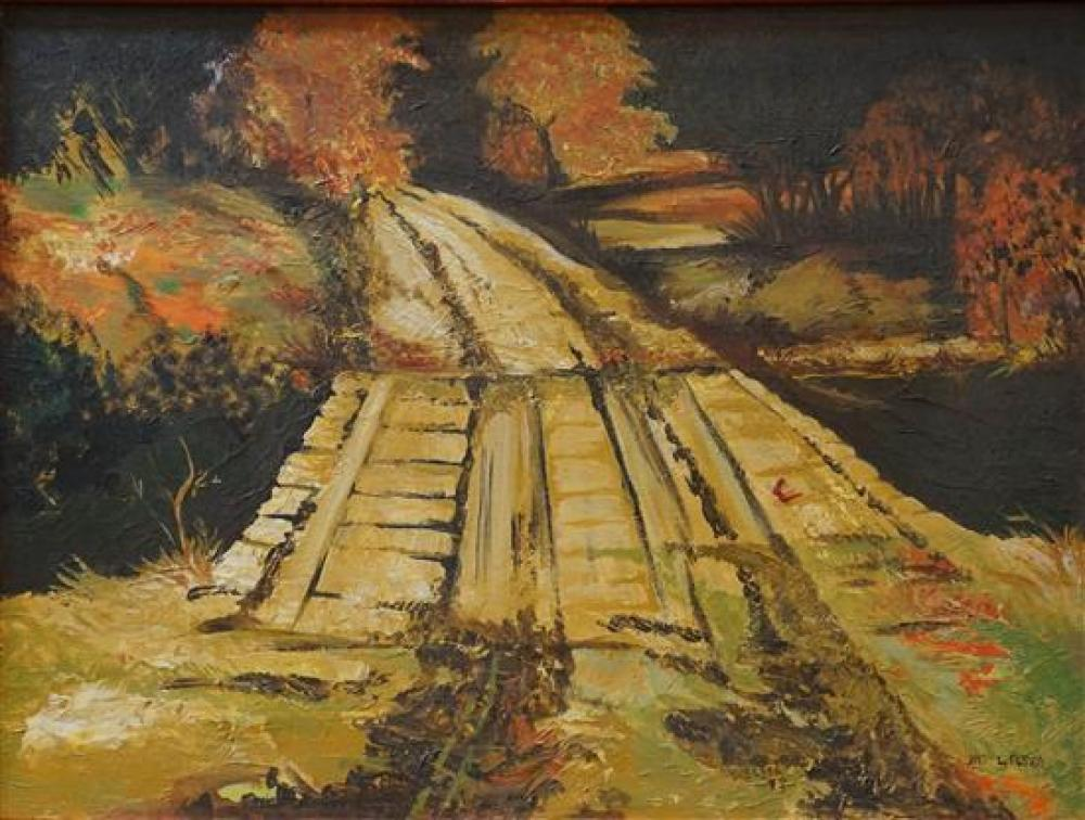 Linda Elsea (American 20th Century), Country Road, Acrylic on Canvas, 18 x 24 in