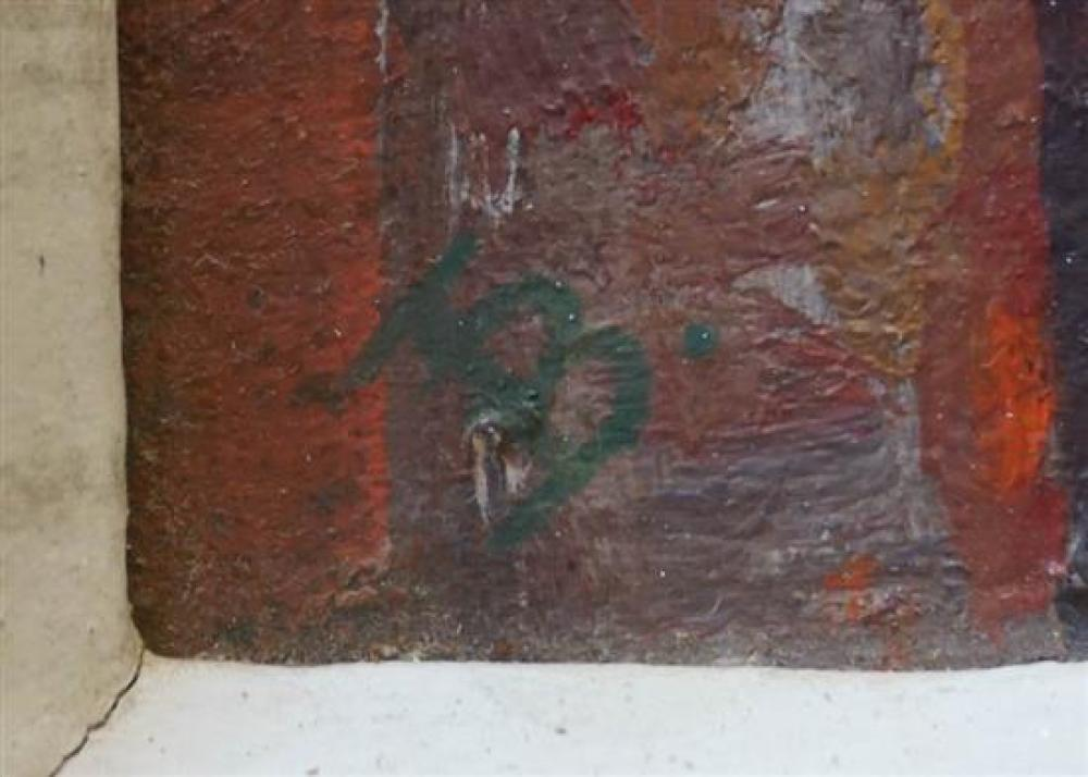 Three Contemporary Abstracts, Acrylic on Canvas (damaged), Size of largest: 22 x 11 in