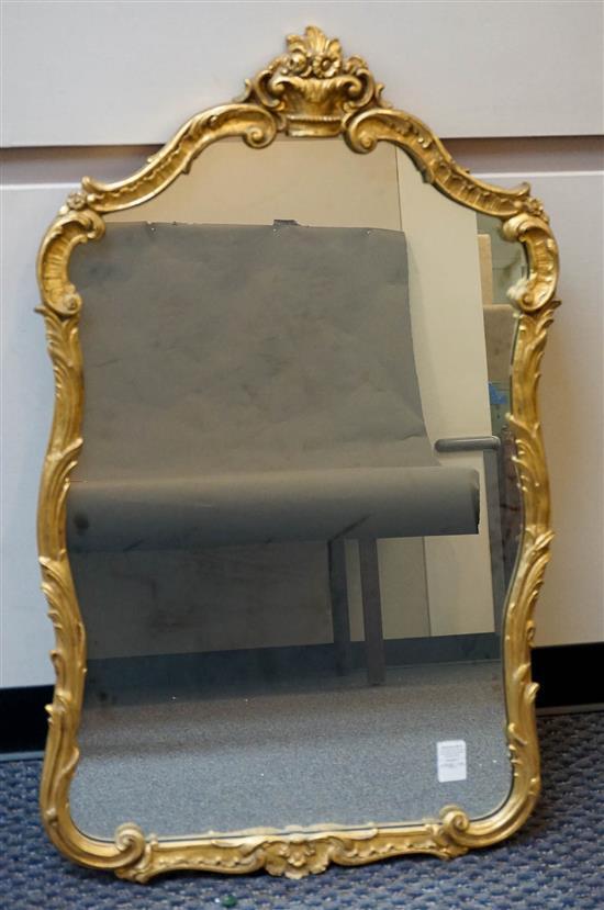 George III Style Gilt Mirror, 41 x 25 in
