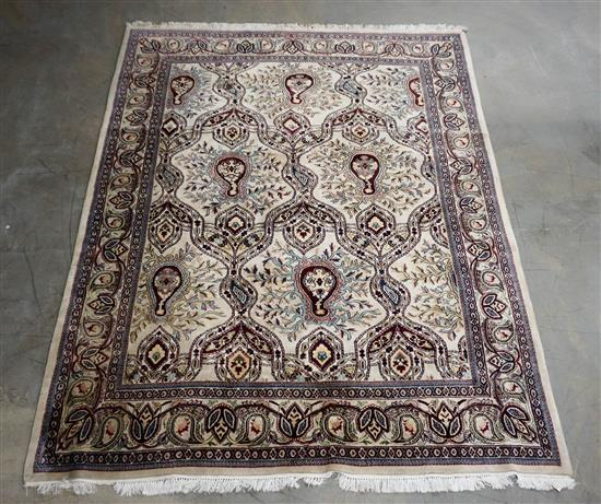 Indo-Tabriz Room Size Rug, 10 ft 2 in x 7 ft 10 in