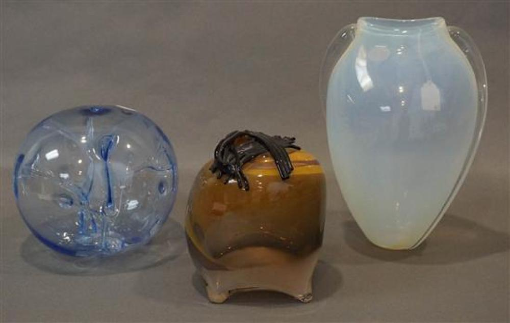 Three Contemporary Glass Sculptures (8, 12, 13)
