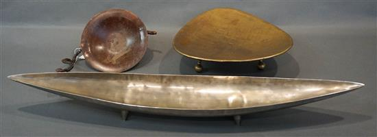Three Contemporary Metal Table Articles (29, 32, 39)