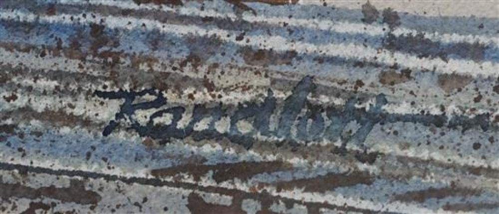 Randlott, Laurel Train Station, Watercolor, Sight size: 15 x 22 in