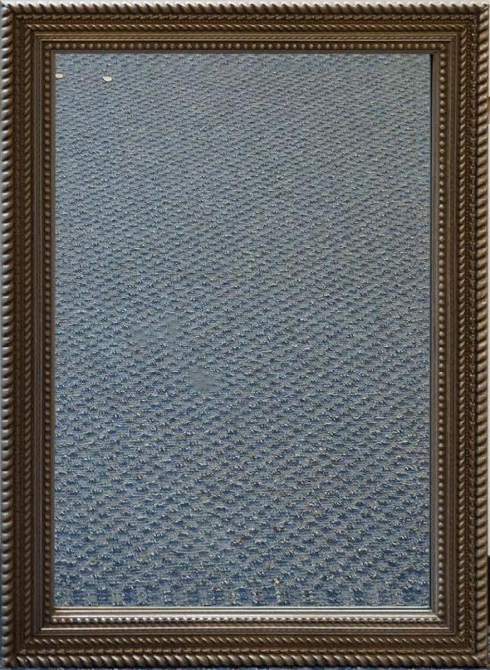 Contemporary Silvered Wood Frame Bevel Edge Mirror, 42 x 30 in
