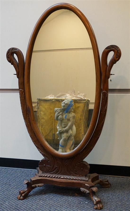Classical Style Mahogany Cheval Mirror
