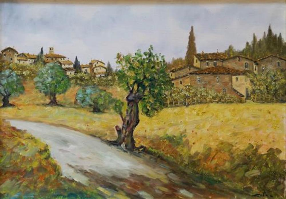 Cito, Italian Villa, Oil on Canvas