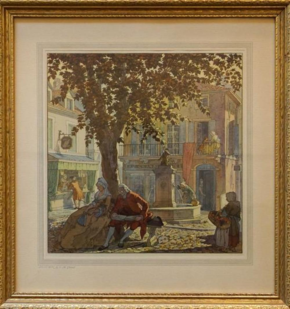 After T.M. Cleland, The Four Seasons, Four Color Prints, Sight size 12 x 12 in