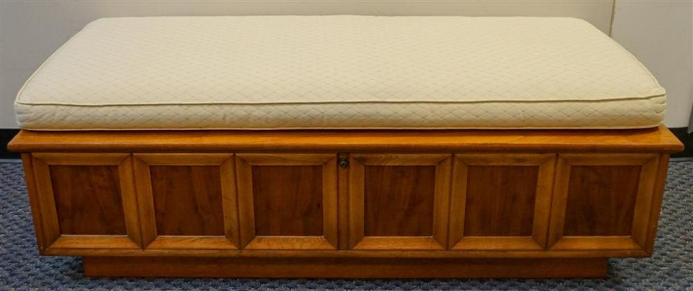 Lane Cedar Lined Walnut Blanket Chest with Loose Cushion, Height: 19 in, Width: 53 in, Depth: 19-1/2 in