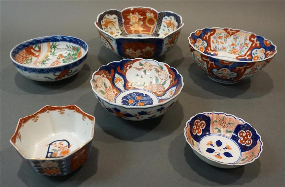 Six Imari Bowls