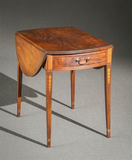 Federal Satinwood Inlaid Mahogany Pembroke Table New York, Circa 1790-1805