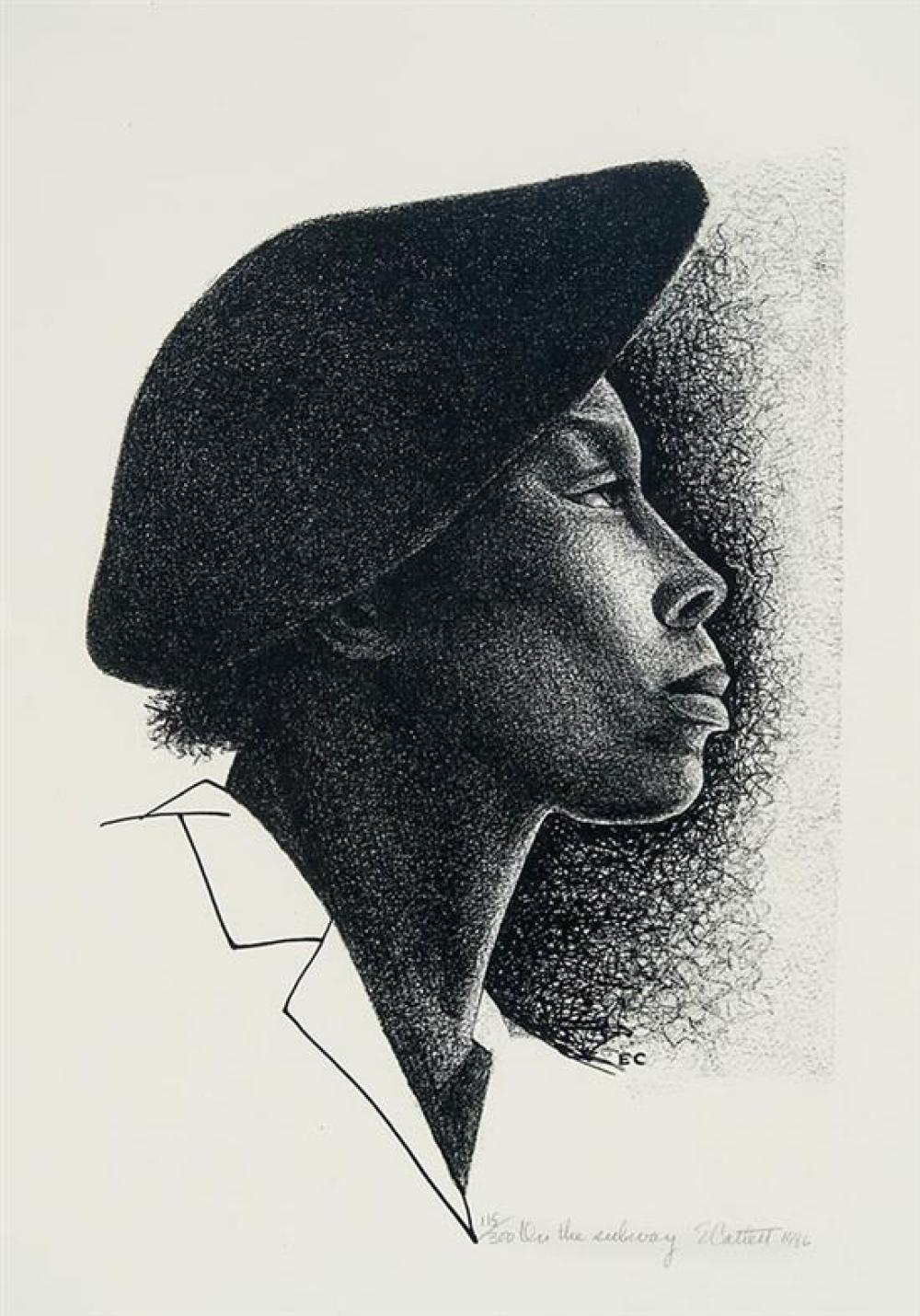 Elizabeth Catlett (American 1915-2012), On the Subway, Unframed Lithograph, 23 x 17-1/2 inches