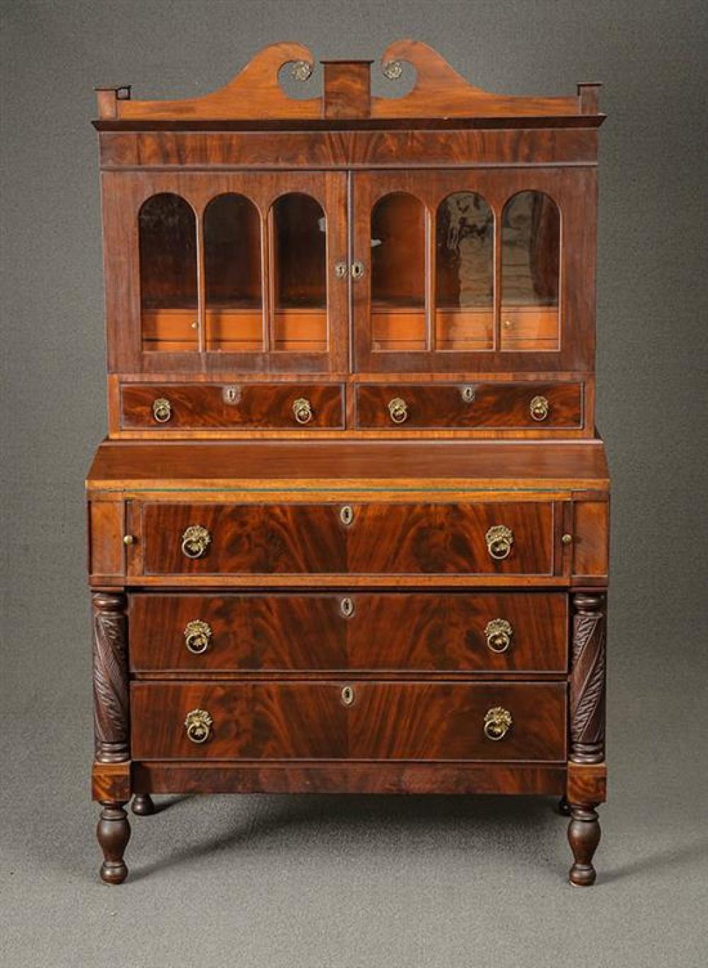 Federal Mahogany Ladies' Writing Desk Massachusetts, Circa 1820-1825