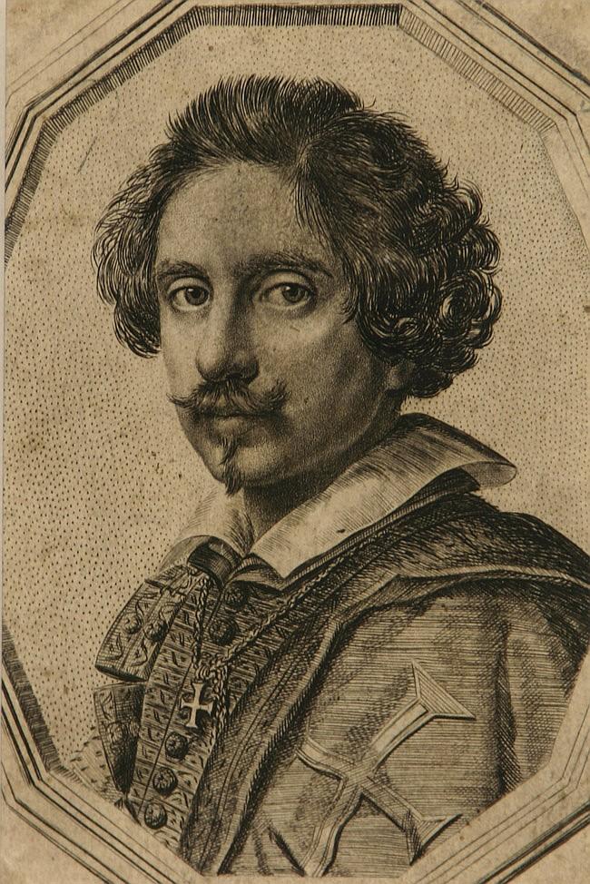 Ottavio Maria Leoni (Italian 1578-1630) Self Portrait, stipple engraving, 5 x 3-1/4 in