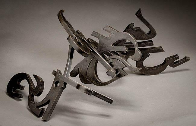Mark di Suvero (American b. 1933), T'ang, Torch-Cut Steel Sculpture, 16 x 25 x 18 in