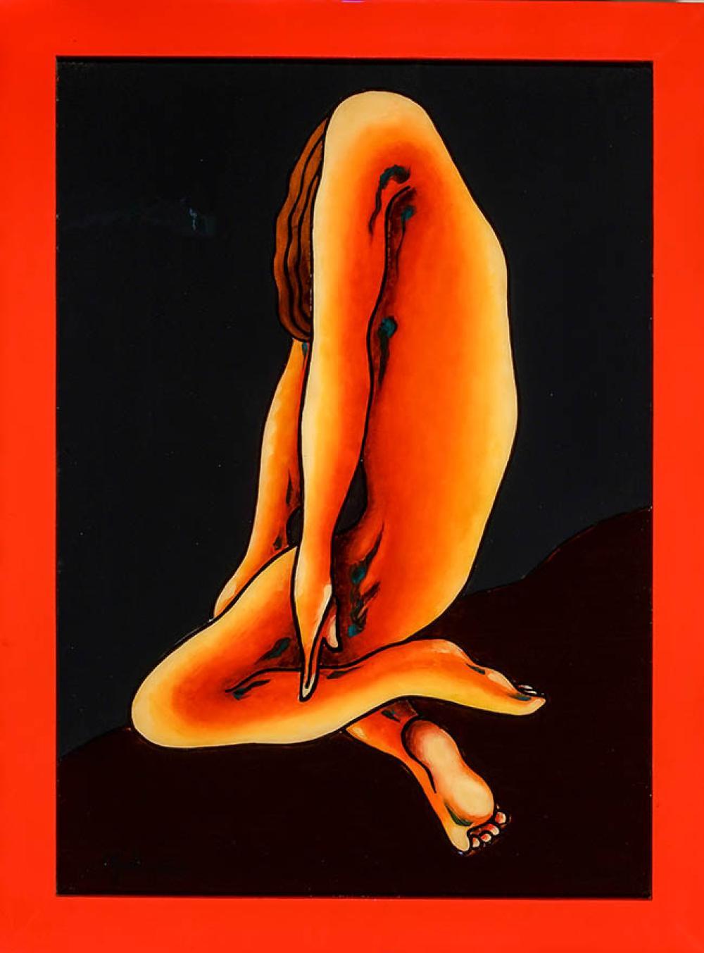 Yordi Buergo (Cuban b. 1961), Sadness, Oil and Resin on Masonite, 28 x 38 in