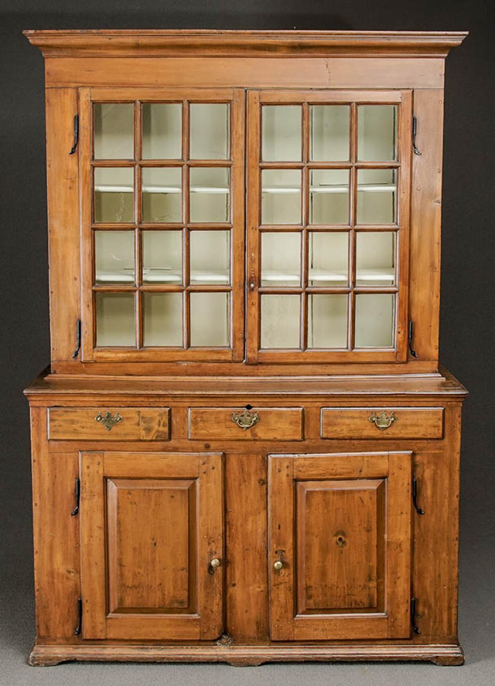 Chippendale Cherry Step-Back Cupboard, Probably Pennsylvania, Circa 1800