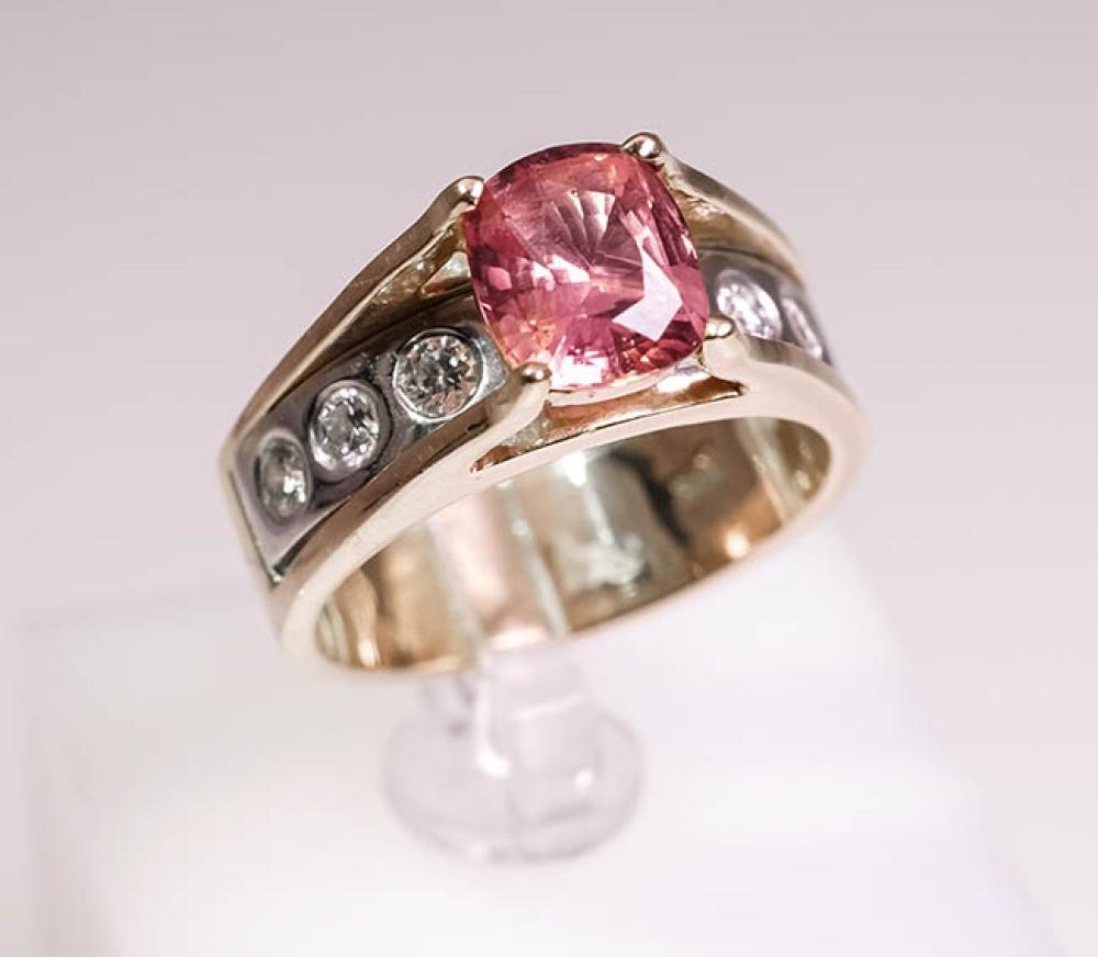 18-Karat Yellow-Gold, Sapphire and Diamond Ring