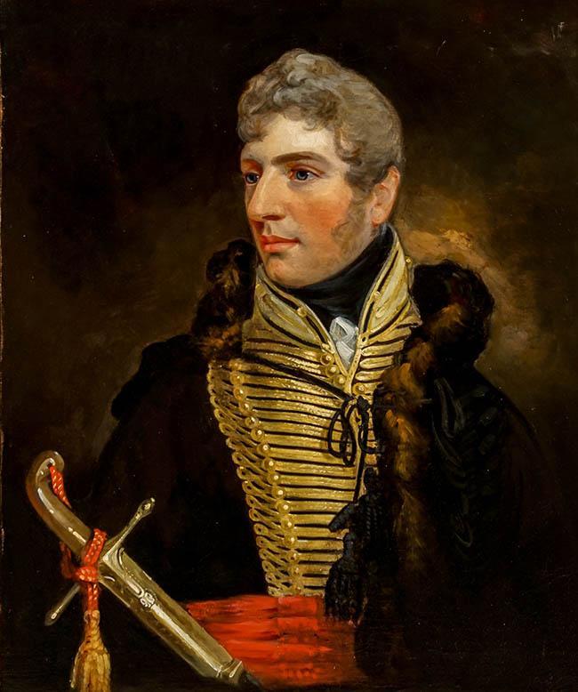 School of Sir William Beechey (British, 18th Century), Portrait of Captain William White, Oil on Canvas, 30 x 25 in