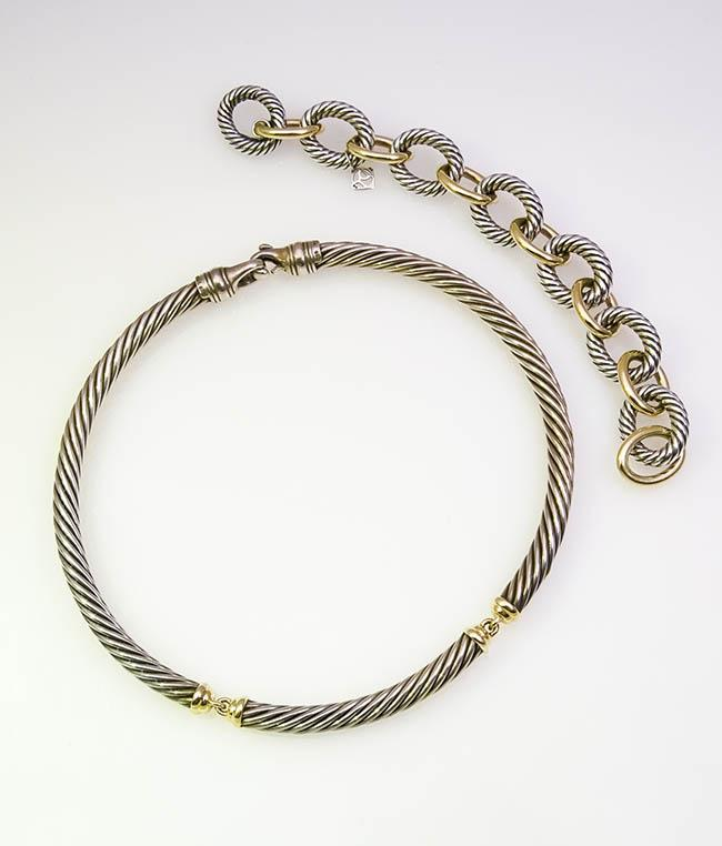 Sterling Silver and Gold Assembled Two-Piece Ensemble, David Yurman
