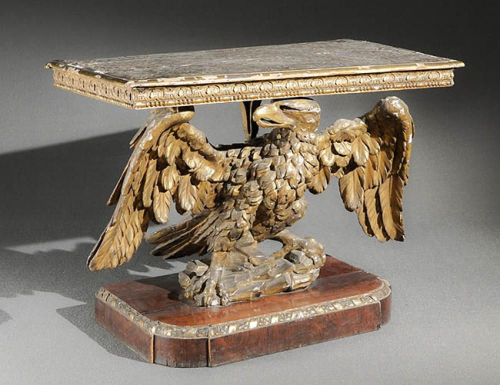 George III Giltwood, Gesso and Rosewood 'Eagle' Pier Table Circa 1800