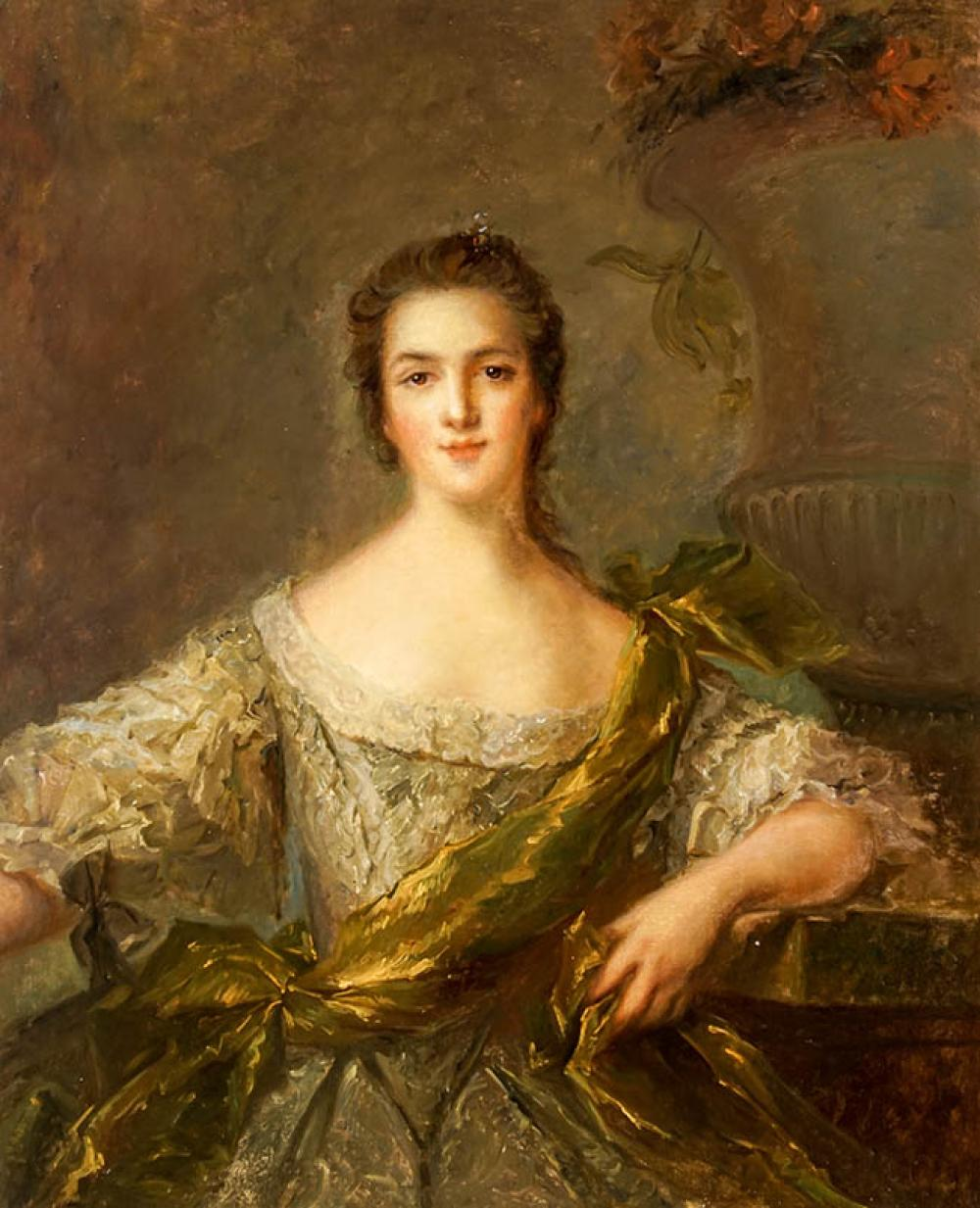 French School, 18th-19th Century, Portrait of a Lady, Oil on Canvas, 40 x 32 in