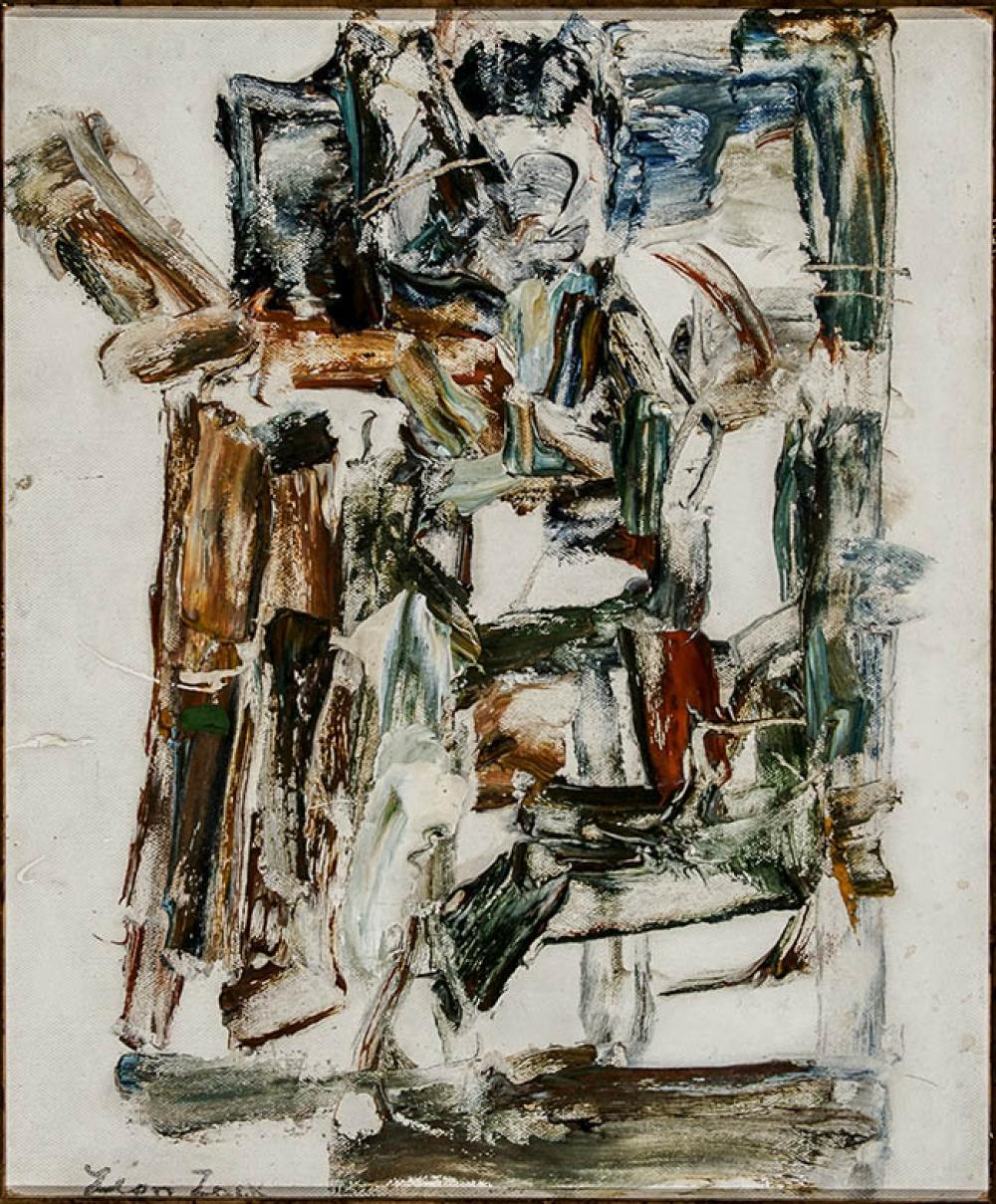 Léon Zach (Russian/American 1892-1980), Untitled Abstract, Oil on Masonite, 24 x 19-1/2 in