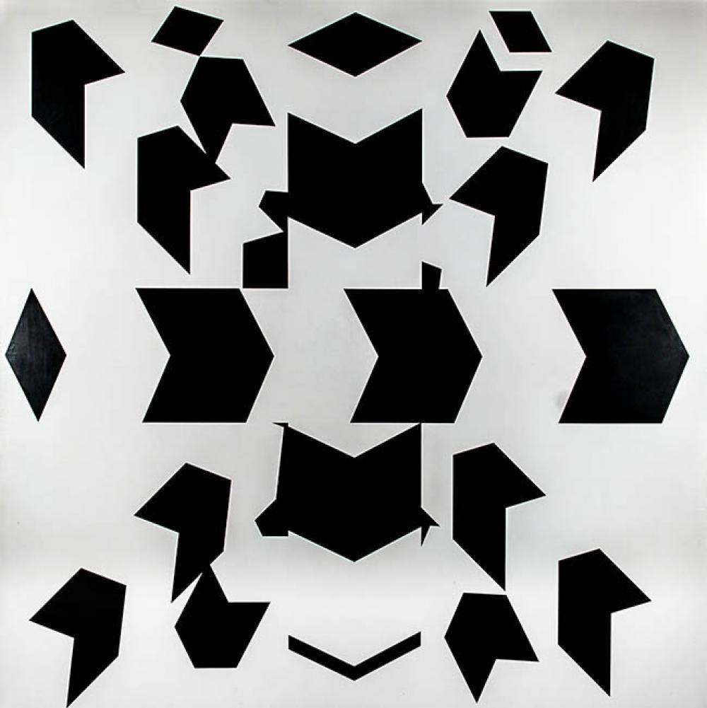 Allan M. D'Arcangelo (American 1930-1998), Constellation #13, Acrylic on Canvas, 96 x 96 in