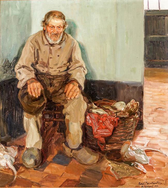 Nikol Schattenstein (Russian/American 1877-1954), An Old Salt, Oil on Canvas, 39-1/4 x 36 in