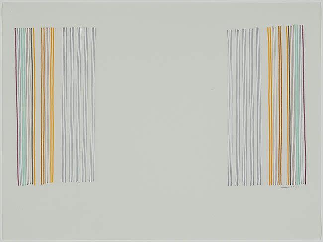 Gene Davis (American 1920-1985), Untitled, Color Marker on Paper, 15 x 20 in