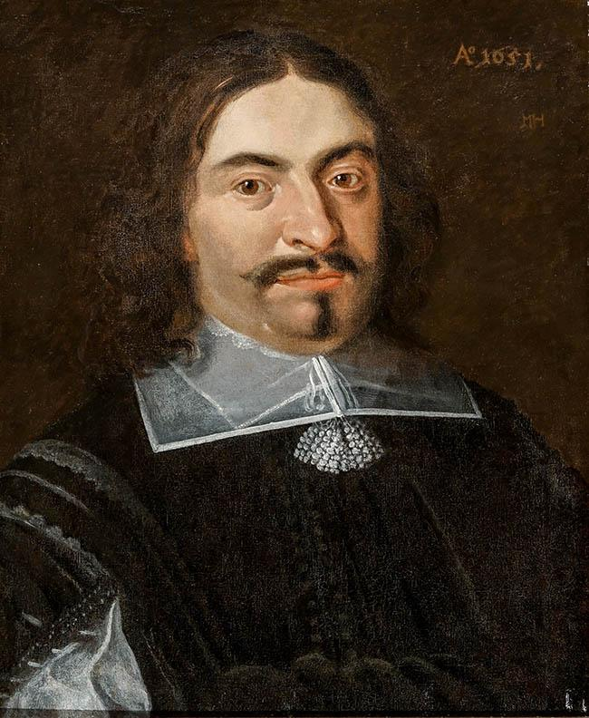 Attributed to Matthijs Harings (Dutch 1593-1667), Portrait of a Gentleman, Oil on Canvas, 20 x 16 in