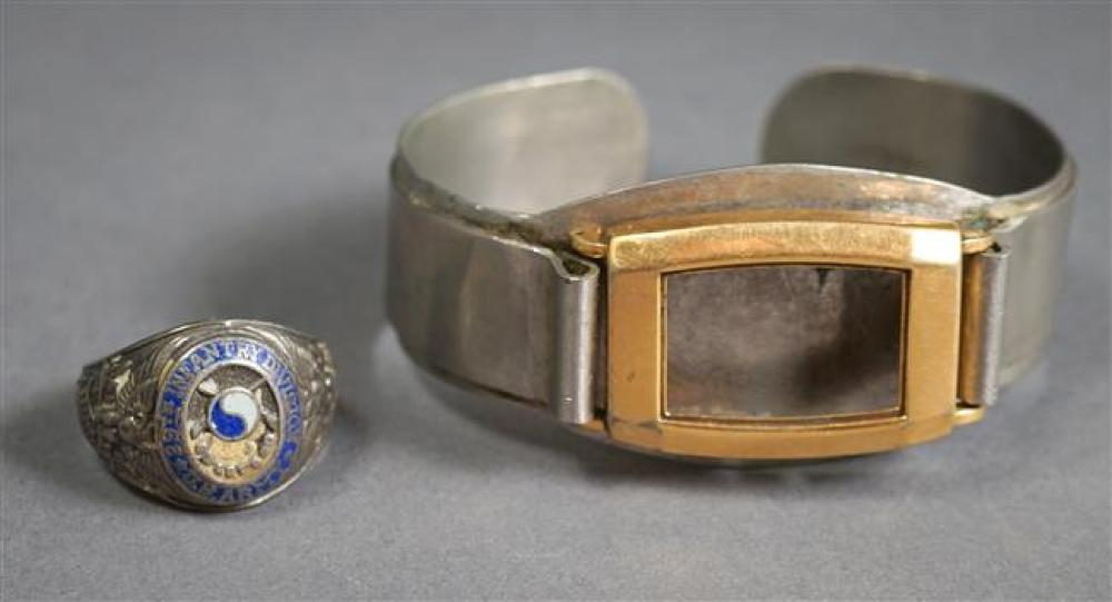 U.S. Navy Watch Case Housing and Sterling U.S. Army 29th Infantry Division Ring