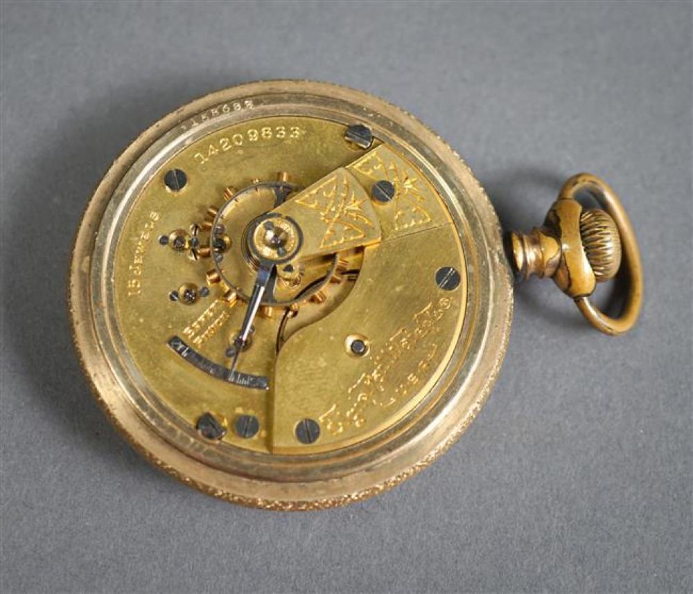 Elgin Gold Filled Openface Pocket Watch, D: 55mm