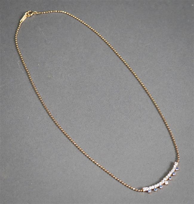 14-Karat Yellow-Gold Moissanite Necklace, 3.3 gross dwt