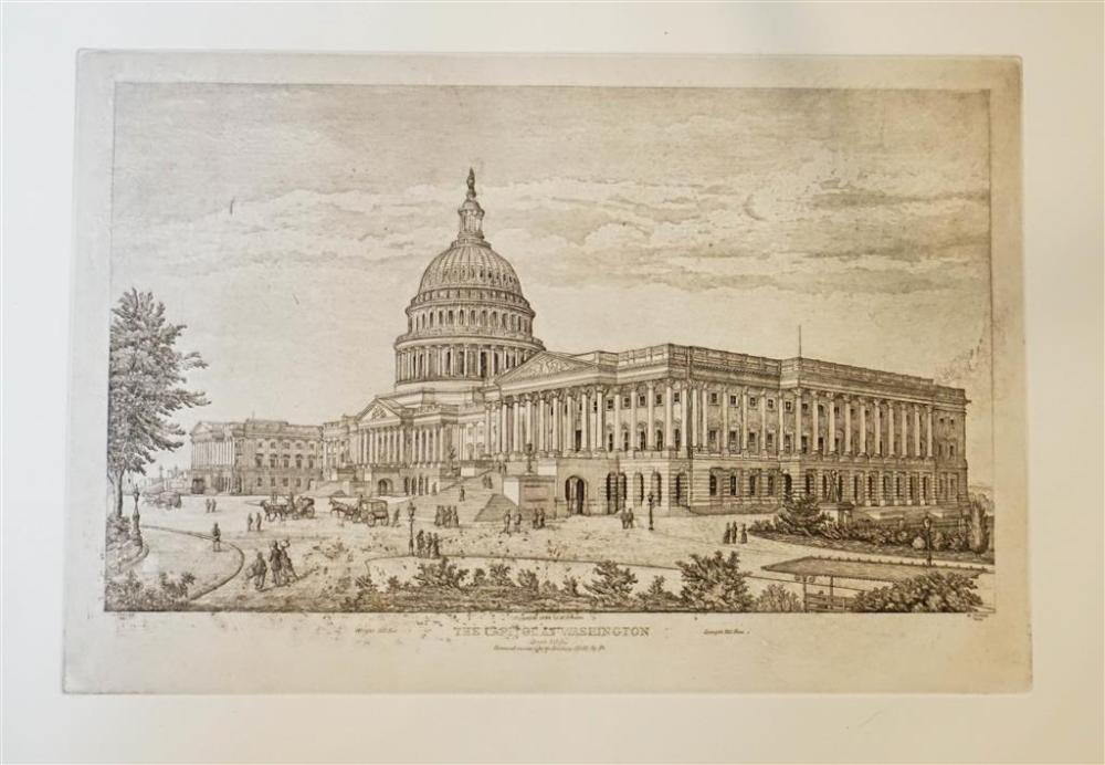 The Capitol in 1892, Etching, Unframed: 16-1/2 x 22-1/4 in