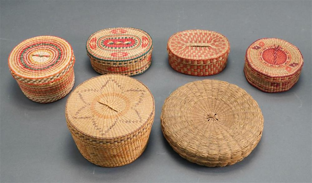 Collection of Six Covered Baskets