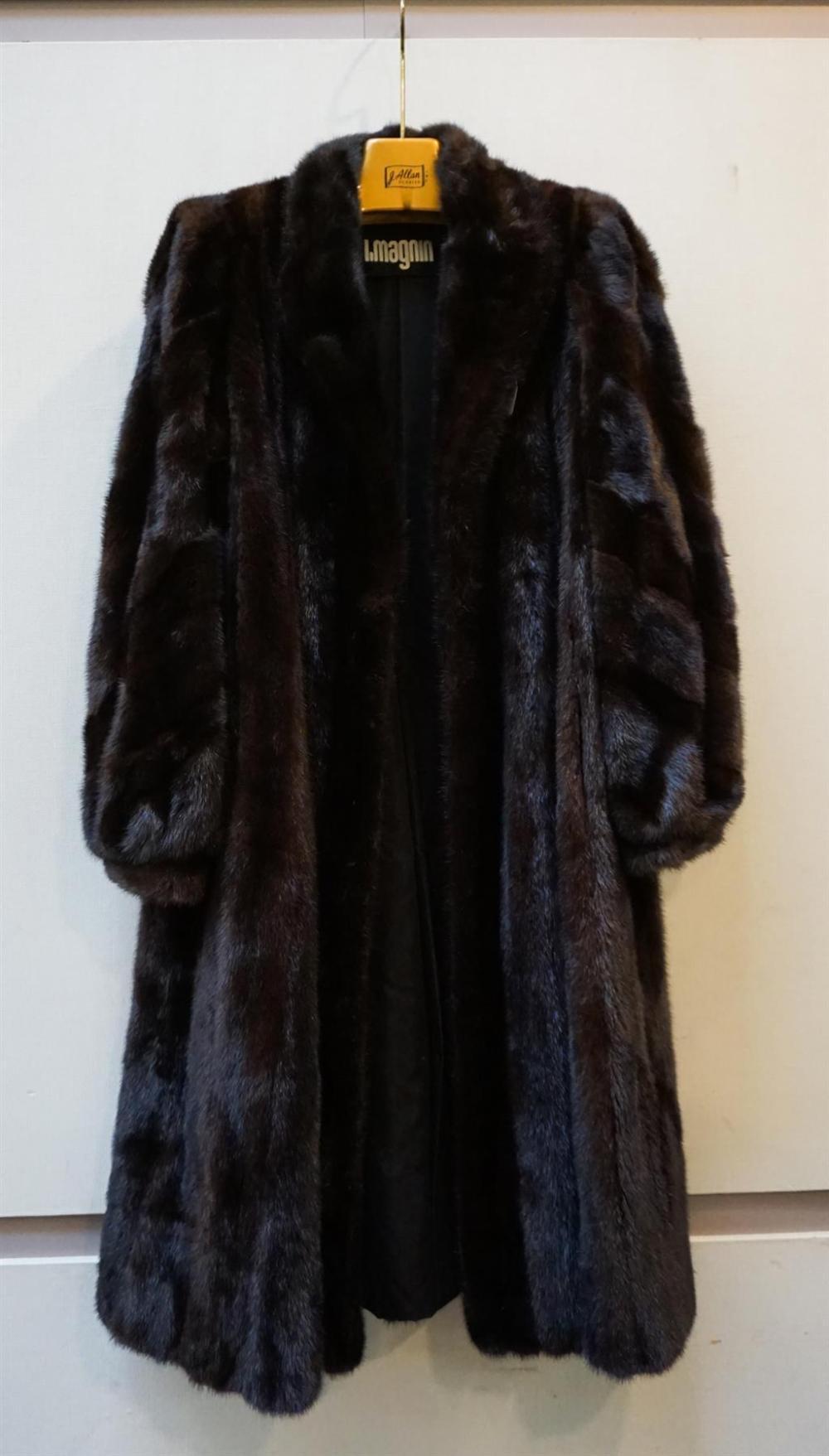 Full-Length Ranch Mink Coat Retailed by I. Magnin