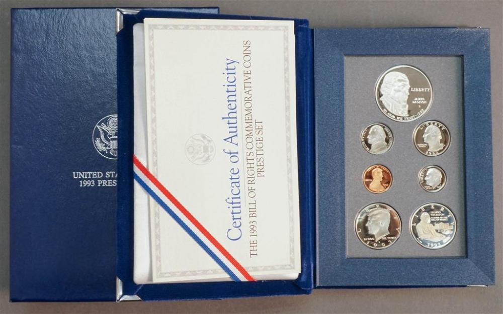U.S. Mint 1993 Bill of Rights Commemorative Seven-Coin Prestige Set